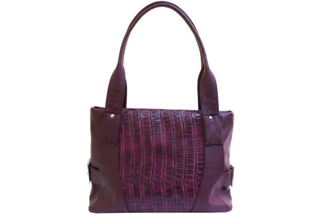 1810 сумка женская бордовый крок/бордовая