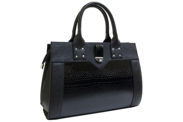 1342 сумка женская черная/черный лак