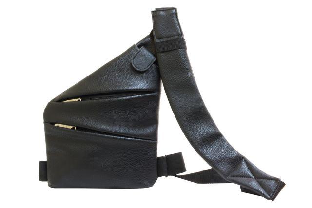 1809 сумка мужская молодежная черная