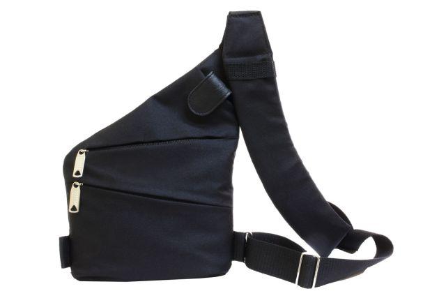 1809к сумка мужская молодежная черная