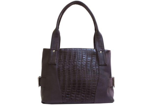 1810 сумка женская коричневый крок/коричневая