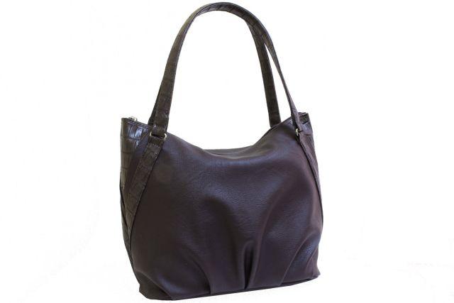 1807 сумка женская коричневая с отделкой