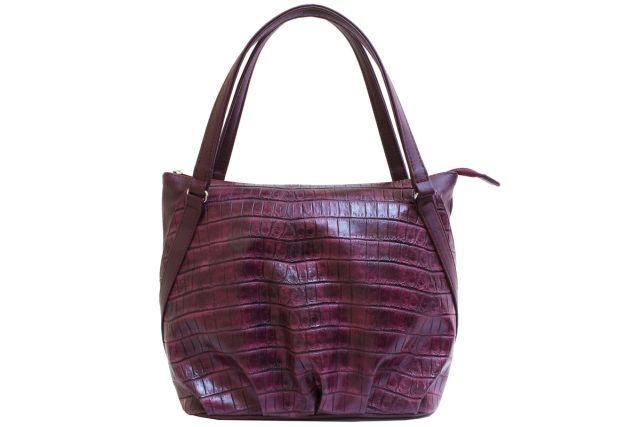 1807 сумка женская бордовая с отделкой