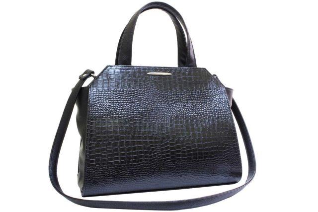 1821 сумка женская черный крок/черная