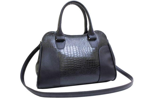 1822 сумка женская черный крок/черная