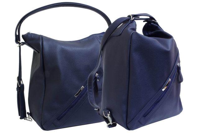 1823 сумка-рюкзак женская синяя