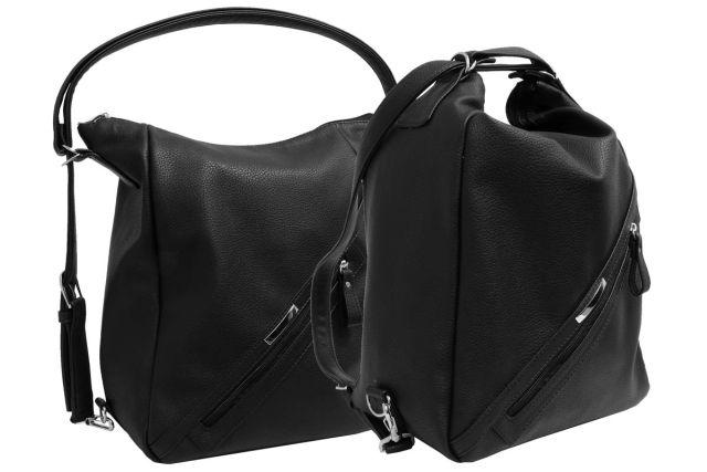 1823 сумка-рюкзак женская черная