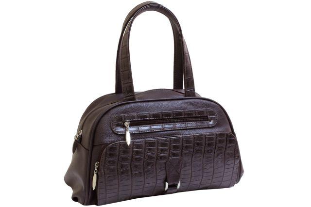 1633 сумка женская коричневая/коричневый крок