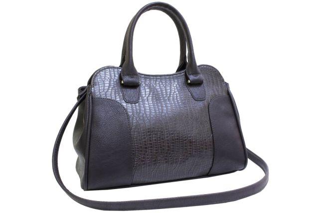 1822 сумка женская коричневый крок/коричневая