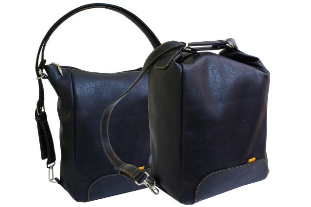 1832 сумка-рюкзак женская черная
