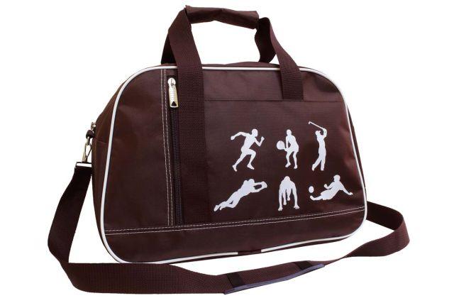 1444к сумка спортивно-дорожная коричневая