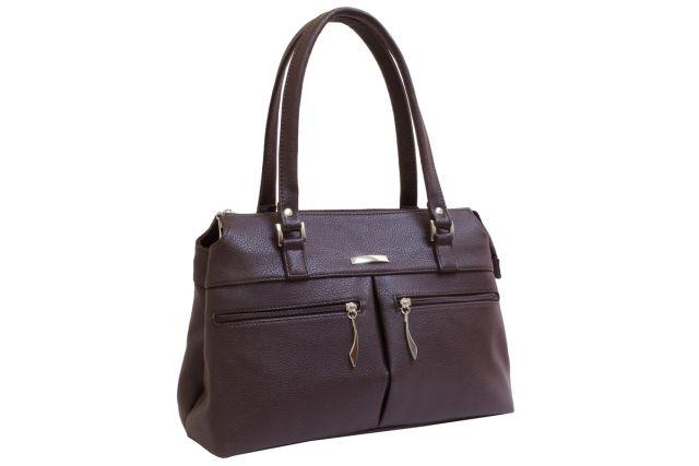 1833 сумка женская коричневая