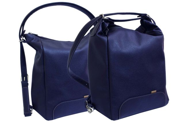 1832 сумка-рюкзак женская синяя