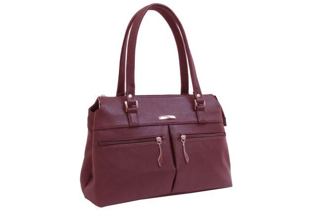 1833 сумка женская бордовая