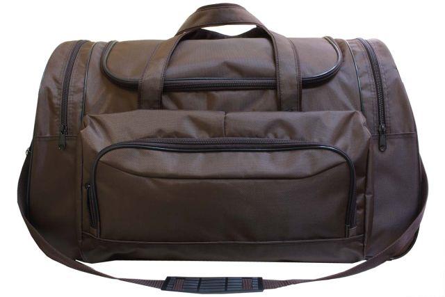 1236к сумка дорожная коричневая