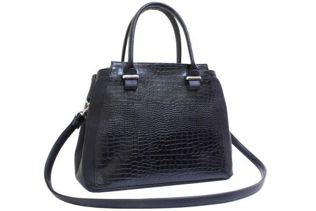 1901 сумка женская черный крок/черная