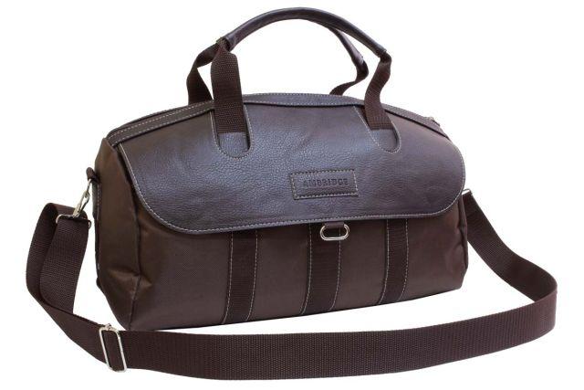 1814к сумка спортивно-дорожная коричневая