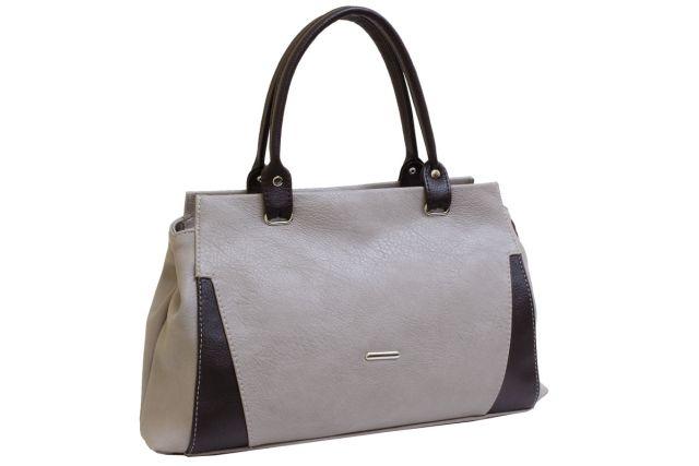 1637 сумка женская темно-бежевая/коричневая