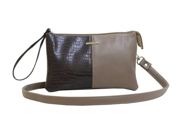 1626 сумка женская темно-бежевая с отделкой