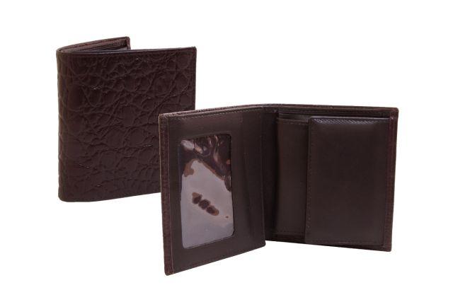 0301н портмоне коричневый крок