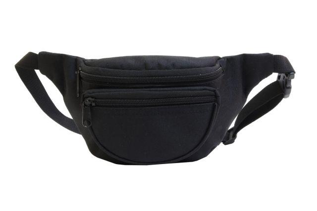 1916к сумка мужская поясная черная