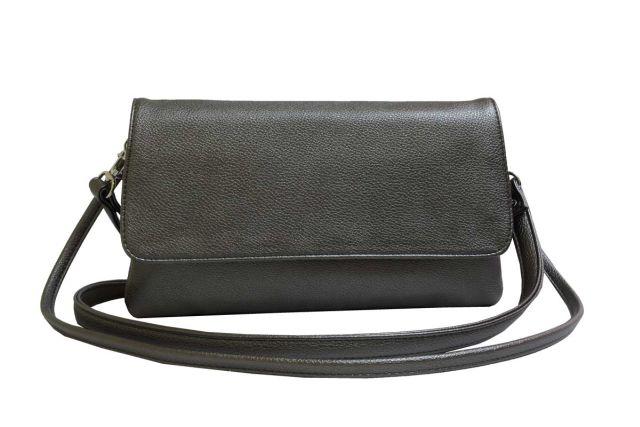 0954 сумка женская бронзовая