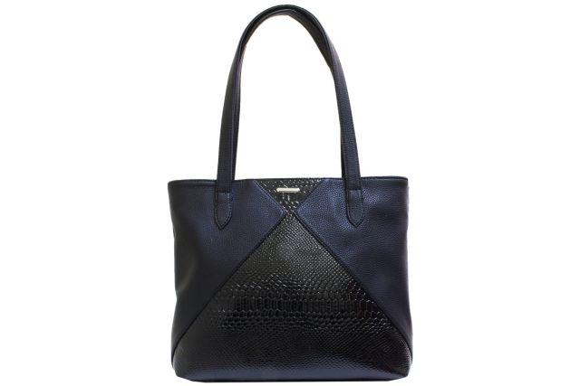 1923 сумка женская черная/черный лак