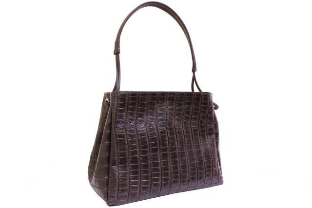 1927 сумка женская коричневый крок/коричневая