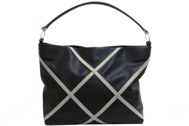 1930 сумка женская черная с отделкой