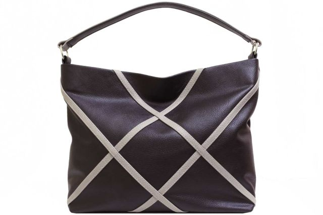 1930 сумка женская коричневая с отделкой