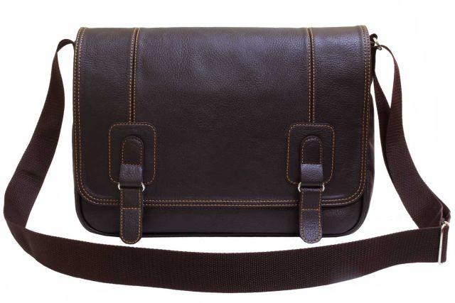 1932 сумка мужская коричневая
