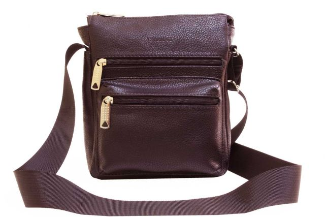 1935 сумка мужская коричневая