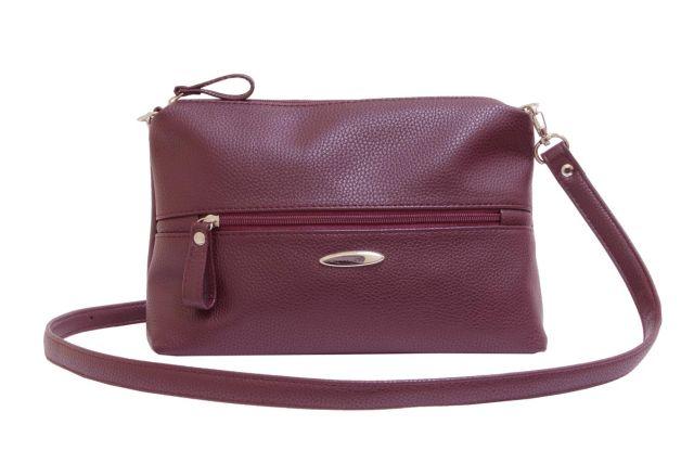 1711 сумка женская бордовая