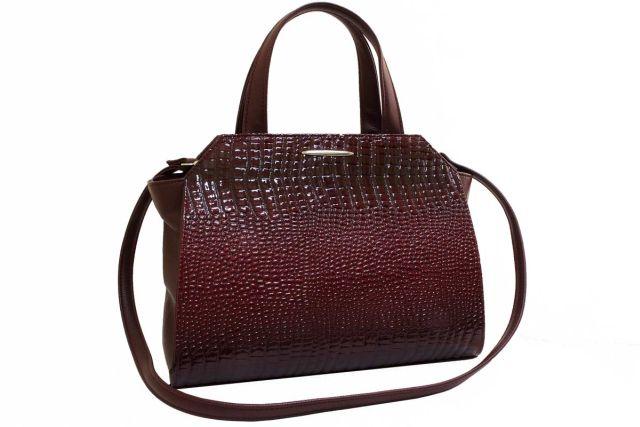 1821 сумка женская бордовый лак/бордовая