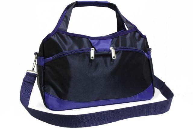 1936к сумка спортивно-дорожная черная/синяя
