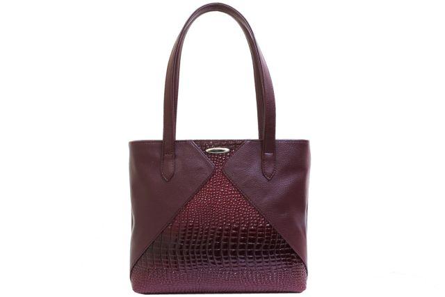 1923 сумка женская бордовая/бордовый лак