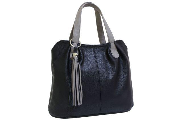 1943 сумка женская черная с отделкой