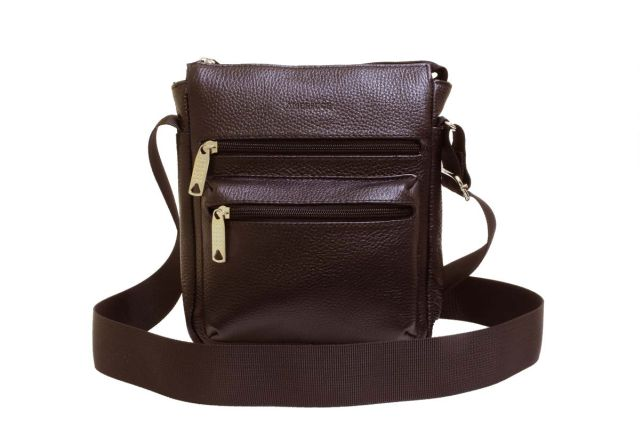 1935н сумка мужская коричневая
