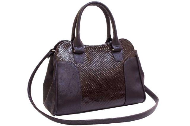 1822 сумка женская коричневый лак/коричневая