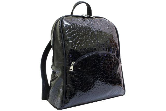1722 рюкзак черный лак