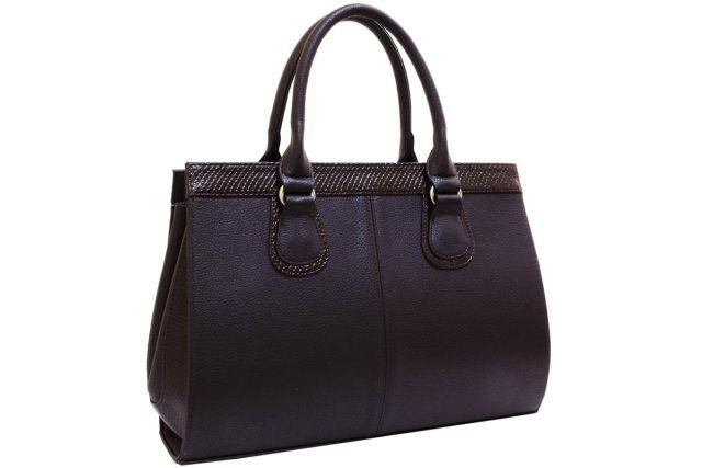 1214 сумка женская коричневая/коричневый лак