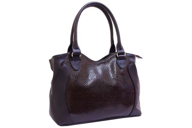 1940 сумка женская коричневый лак/коричневая