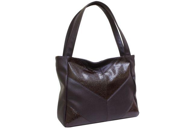 2002 сумка женская коричневая с отделкой