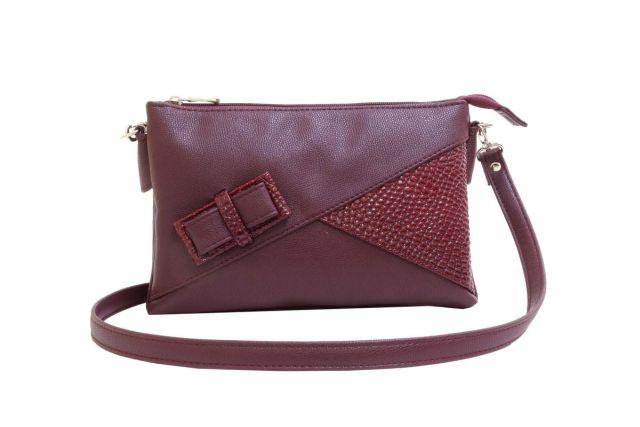 1404 сумка женская бордовая/бордовый лак