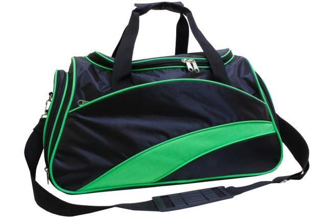0806к сумка спортивно-дорожная черная/зеленая
