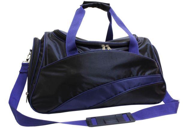 0806к сумка спортивно-дорожная черная/синяя