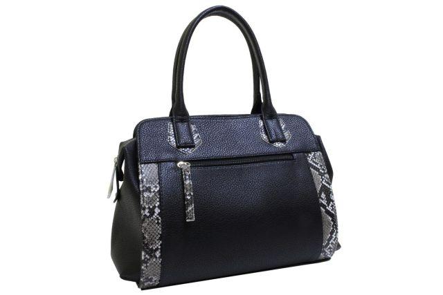 1727 сумка женская черная/рептилия