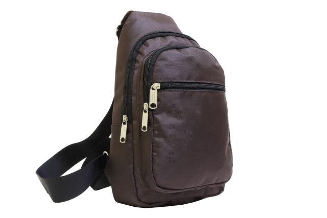 2043к сумка молодежная коричневая