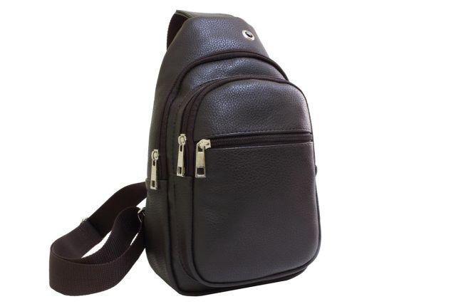 2043 сумка молодежная коричневая