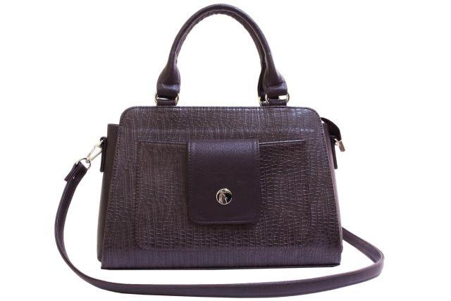 2016 сумка женская коричневый крок/коричневая